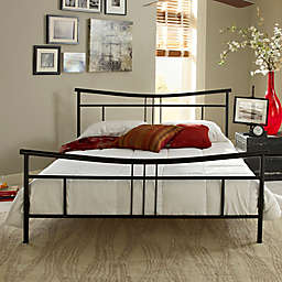 E-Rest Deanna Metal Platform Bed in Matte Silver