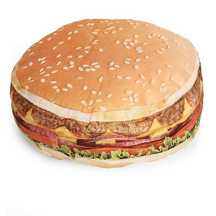 Alternate image 1 for Wow Work Hamburger Throw Pillow in Tan/Yellow