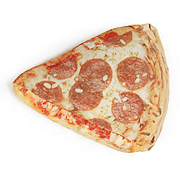 Wow Works Slice of Pizza Throw Pillow in Tan/Red