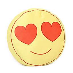 Wow Works Goo Goo Eyes Emoji Throw Pillow in Yellow/Red