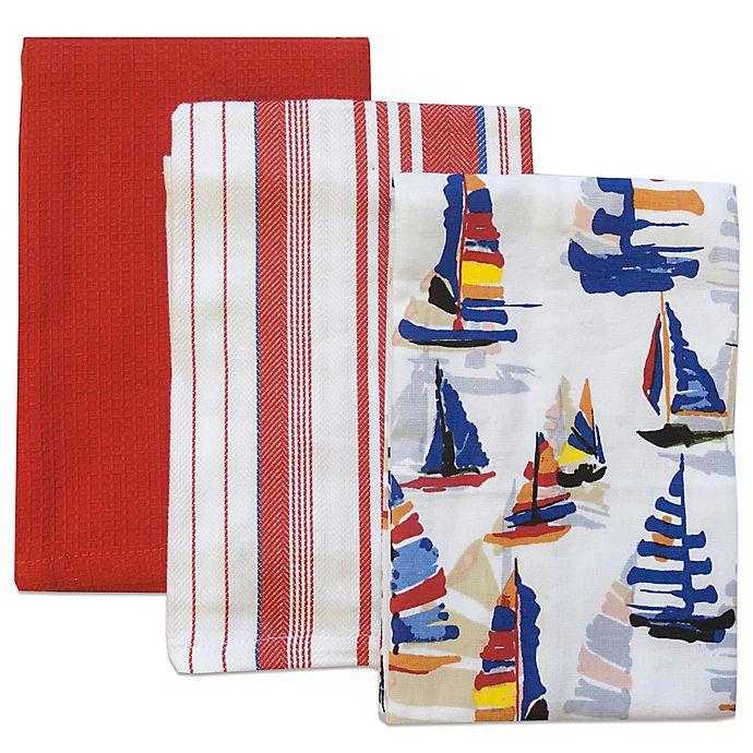 Tommy Bahama Bathroom Towels: Tommy Bahama® Regatta Kitchen Towels (Set Of 3)