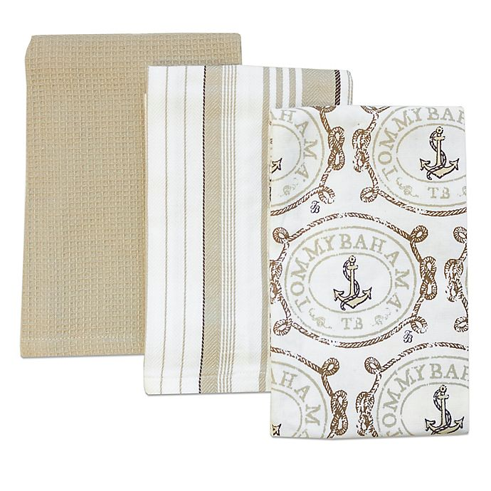Tommy Bahama Bathroom Towels: Tommy Bahama® Anchors Away Kitchen Towels (Set Of 3)