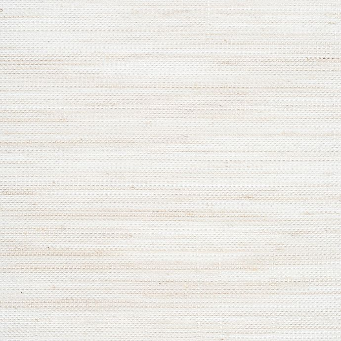 Alternate image 1 for GLOWE   Weave Fabric Roman Shade Swatch in Washed White