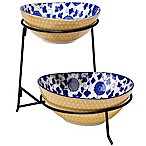 Certified International Chelsea Mix and Match Poppy 2-Tier Server