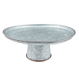 Thirstystone® Galvanized Metal and Copper Cake Stand