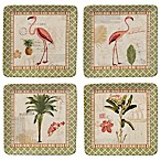 Certified International Floridian Salad Plates in Coral (Set of 4)