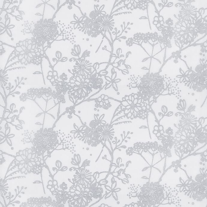 Alternate image 1 for GLOWE   Flower Garden Fabric Roller Shade Swatch in Silver