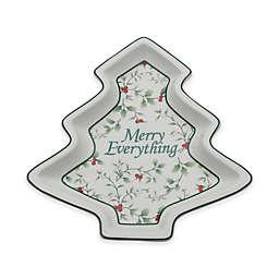 "Pfaltzgraff® Winterberry ""Merry Everything"" Christmas Tree Plate"