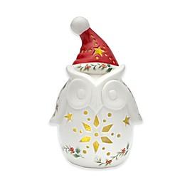 Pfaltzgraff® Winterberry Figural Owl with LED Light