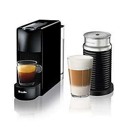 Nespresso® by Breville® Essenza Mini Espresso Maker Bundle with Aeroccino Frother in Black