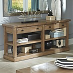 Home Florence Sofa Table in Rustic Smoke