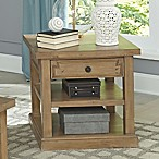 Home Florence End Table in Rustic Smoke
