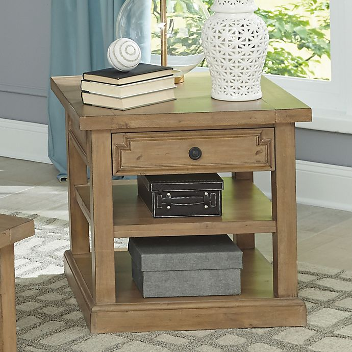 Home Florence End Table In Rustic Smoke Bed Bath Beyond