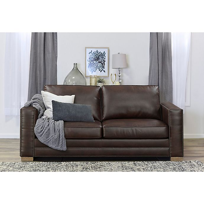 Mason White Leather Sofa: Serta® Mason Bonded Leather Sofa