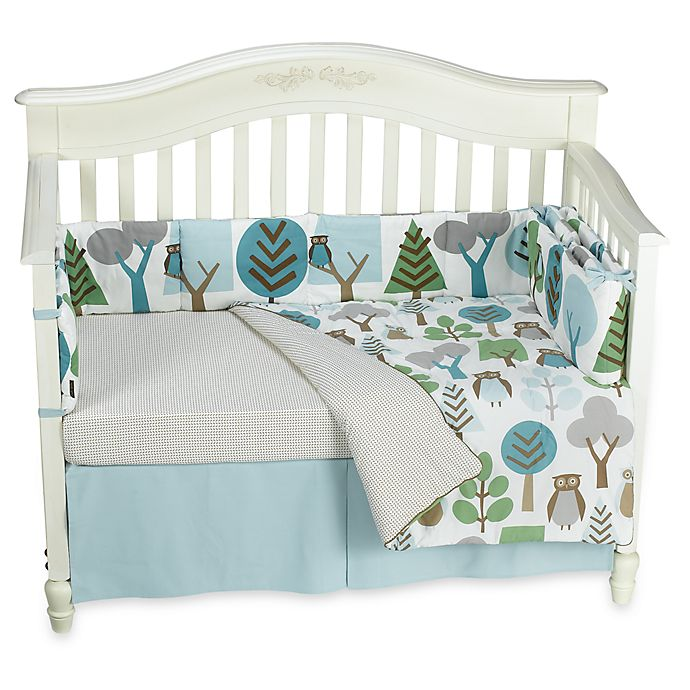 Dwell Studio Owls Sky 4 Piece Crib Set And Accessories Bed Bath