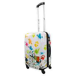 Chariot 20-Inch  Hardside Spinner Suitcase in Paint Puppy