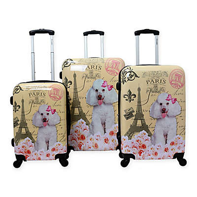 Chariot 3-Piece Hardside Spinner Luggage Set in Paris Pink