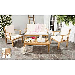 Safavieh Fresno 4-Piece Patio Furniture Set