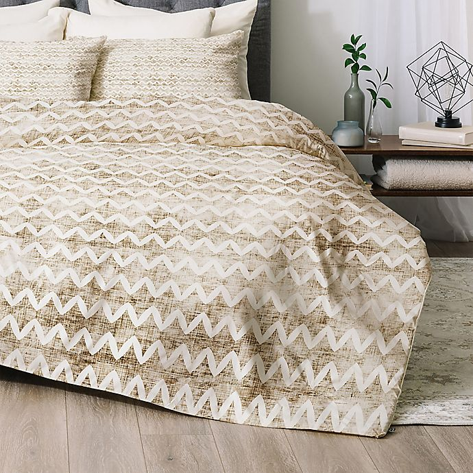 Alternate image 1 for Deny Designs Rustica Twin/Twin XL Comforter Set in Gold