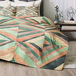 Deny Designs Hybrid Holistic 2-Piece Twin/Twin XL Comforter Set in Green