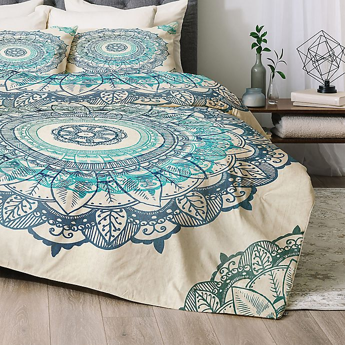 Alternate image 1 for Deny Designs RBS Mandala Queen Comforter Set in Blue