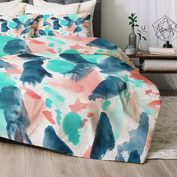 Alternate image 1 for Deny Designs Different Strokes Queen Comforter Set in Blue