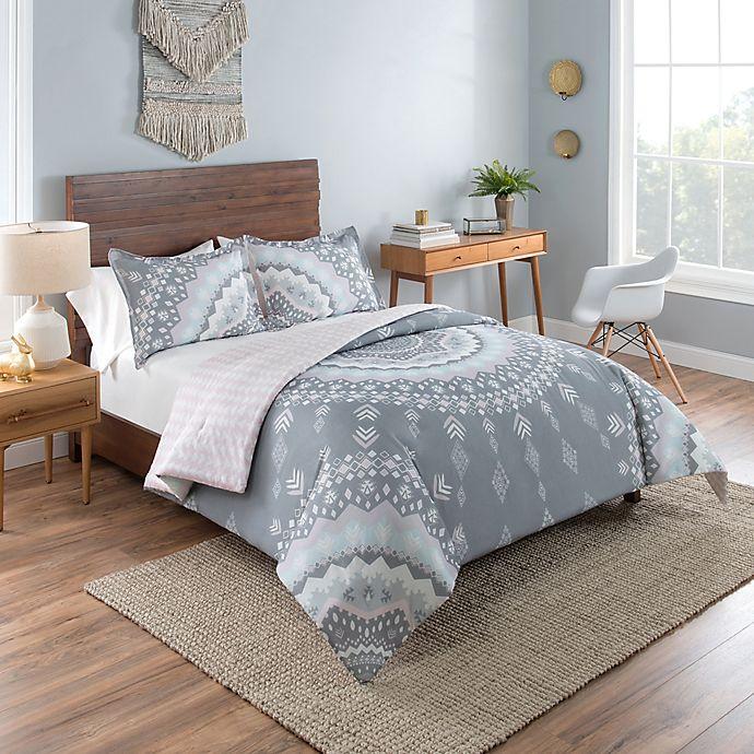 Alternate image 1 for Vue® Mira 2-Piece Reversible Twin XL Comforter Set in Grey