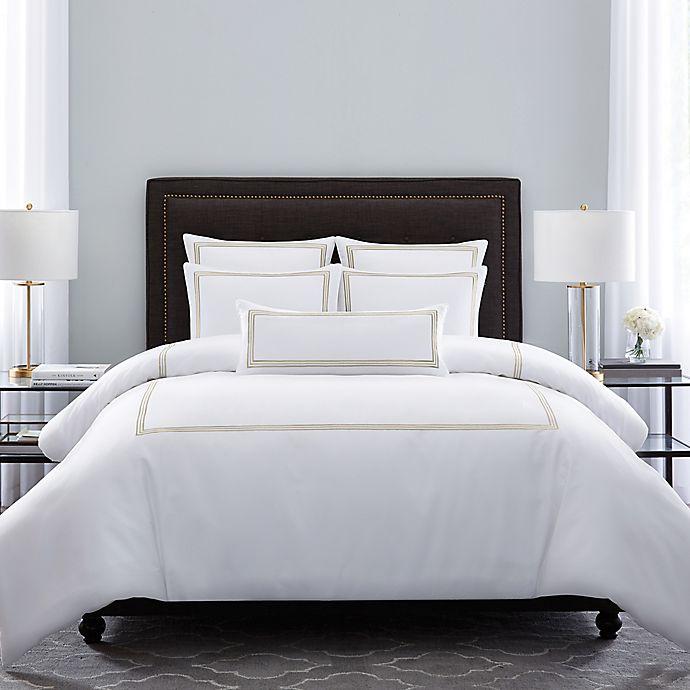 Alternate image 1 for Wamsutta® Hotel Triple Baratta Stitch King Comforter Set in Honey