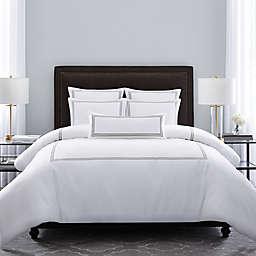 Wamsutta® Hotel Triple Baratta Stitch Full/Queen Comforter Set in Silver