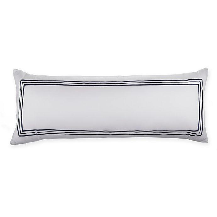 Alternate image 1 for Wamsutta® Hotel Triple Baratta Stitch Bolster Throw Pillow