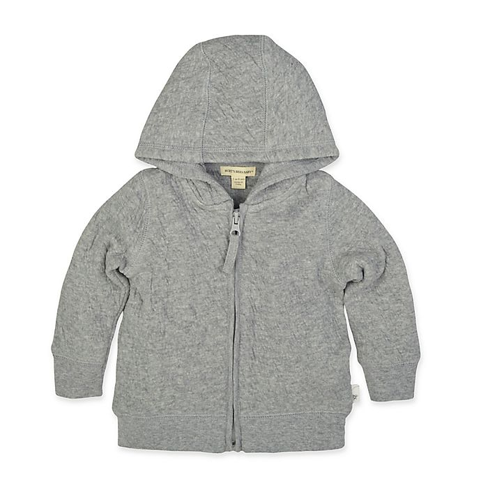Alternate image 1 for Burt's Bees Baby® Quilted Bee Jacket in Grey