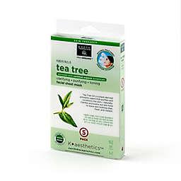 Earth Therapeutics® K-Beauty Facial Care 5-Pack Tea Tree Mask