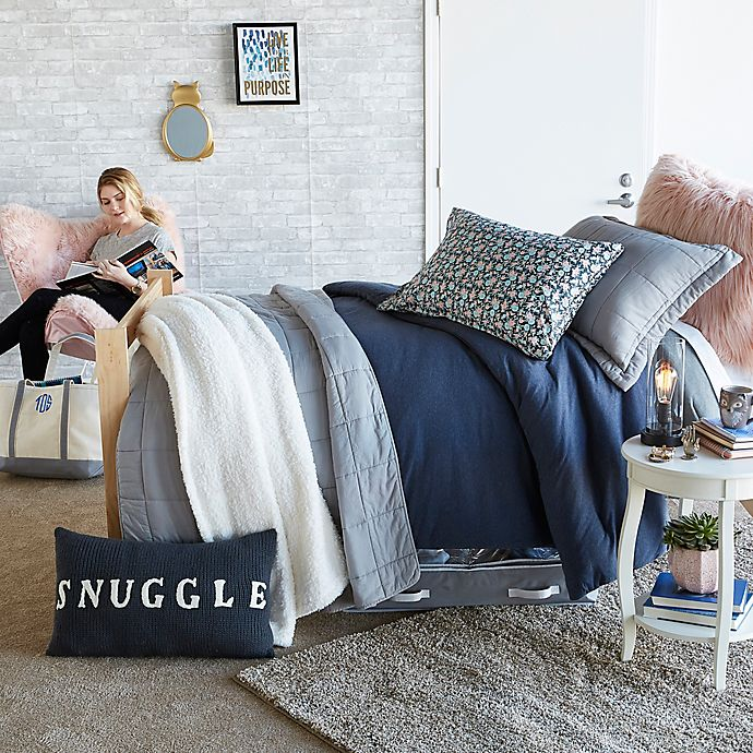 Snuggle Navy & Grey Bedroom | Bed Bath & Beyond