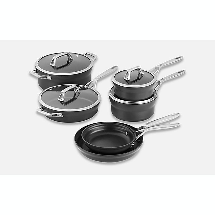 Alternate image 1 for Zwilling® J.A. Henckels Motion Nonstick Hard-Anodized 10-Piece Cookware Set in Grey