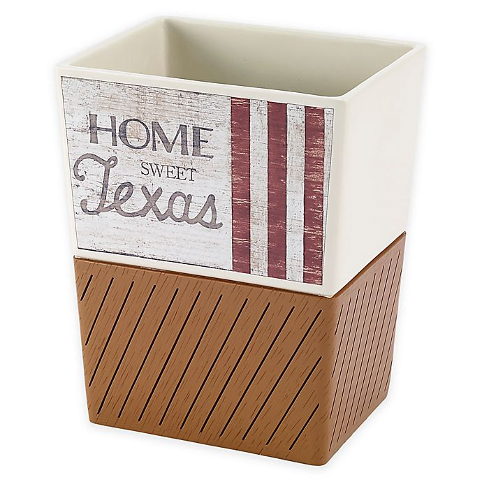 Alternate image 1 for Avanti Home Sweet Texas Wastebasket