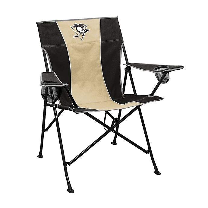 Brilliant Nhl Pittsburgh Penguins Foldable Pregame Chair Bed Bath Alphanode Cool Chair Designs And Ideas Alphanodeonline