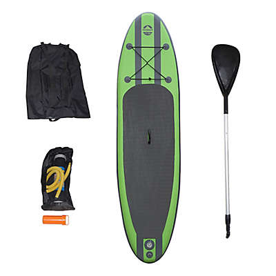 Outdoor Tuff Inflatable Paddle Board Set in Green