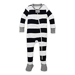 Burt's Bees Baby® Rugby Stripe Footie in Navy/White