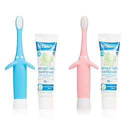 Dr. Brown's Infant-to-Toddler Toothbrush, Toothpaste Combo Pack
