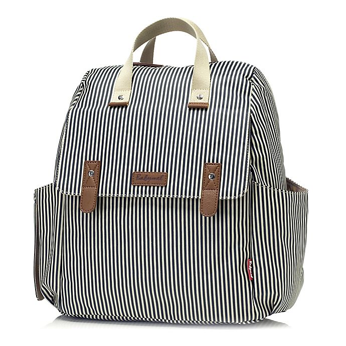 Alternate image 1 for Babymel™ Robyn Convertible Diaper Bag in Navy Stripe