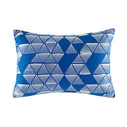 KAS® Australia Cinder Geometric Oblong Throw Pillow in Blue