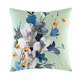 KAS® Australia Cinder Floral Square Throw Pillow in Green