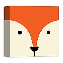 Designs Direct Fox Face Friend 12-Inch Square Canvas Wall Art