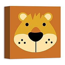 Designs Direct Lion Face Friend 12-Inch Square Canvas Wall Art