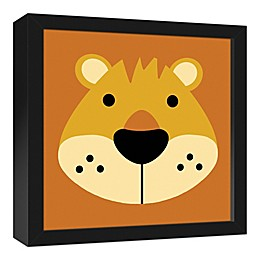 Designs Direct Lion Face Friend 12-Inch Square Framed Canvas Wall Art