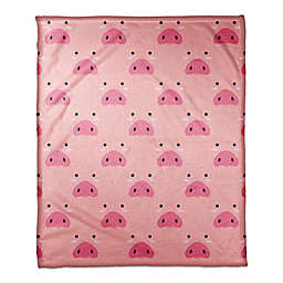 Designs Direct Pig Face Friend Throw Blanket in Pink