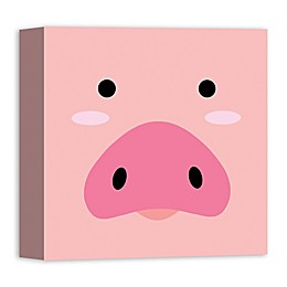 Designs Direct Pig Face Friend 12-Inch Square Canvas Wall Art