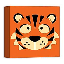 Designs Direct Tiger Face Friend 12-Inch Square Canvas Wall Art