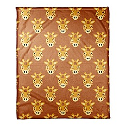 Designs Direct Framed Giraffe Face Friend Throw Blanket