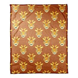 Designs Direct Framed Giraffe Face Friend Throw Blanket